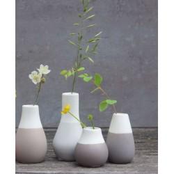 Mini vase pastel gris