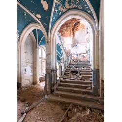 Urbex escalier bleu