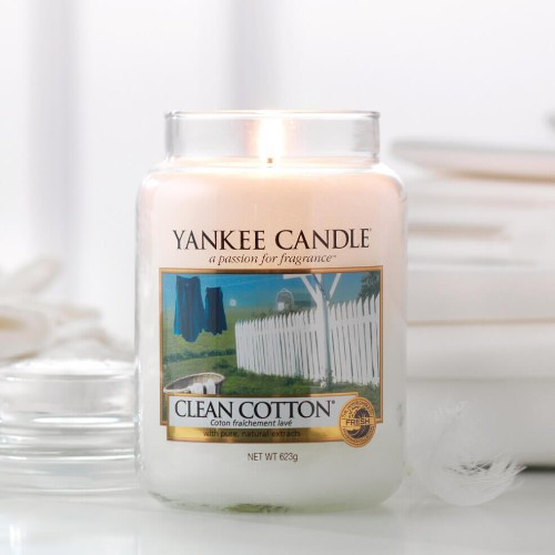 Yankee Candle bougie grande jarre clean cotton
