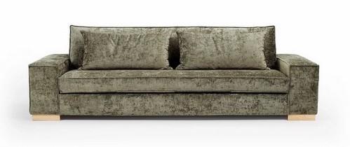 canapé lounge kaki pieds bas sofarev