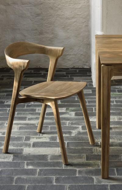 fauteuil de table teck bok ethnicraft